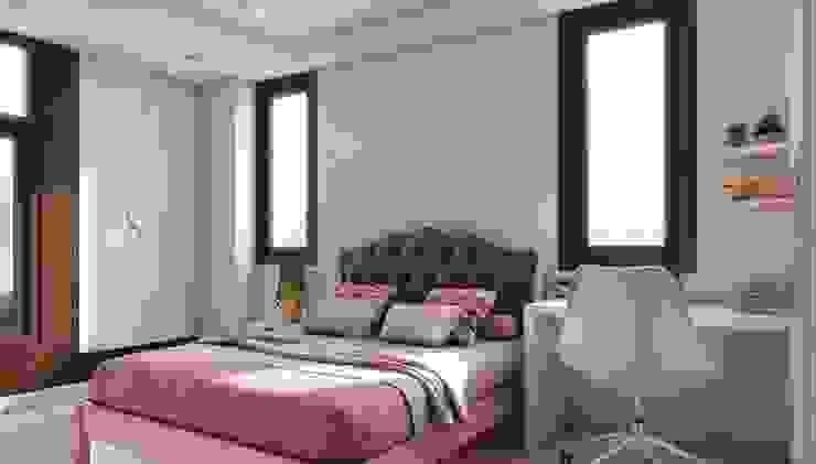 Spiffy Pink brown Daughter's bedroom Lakkad Works Small bedroom