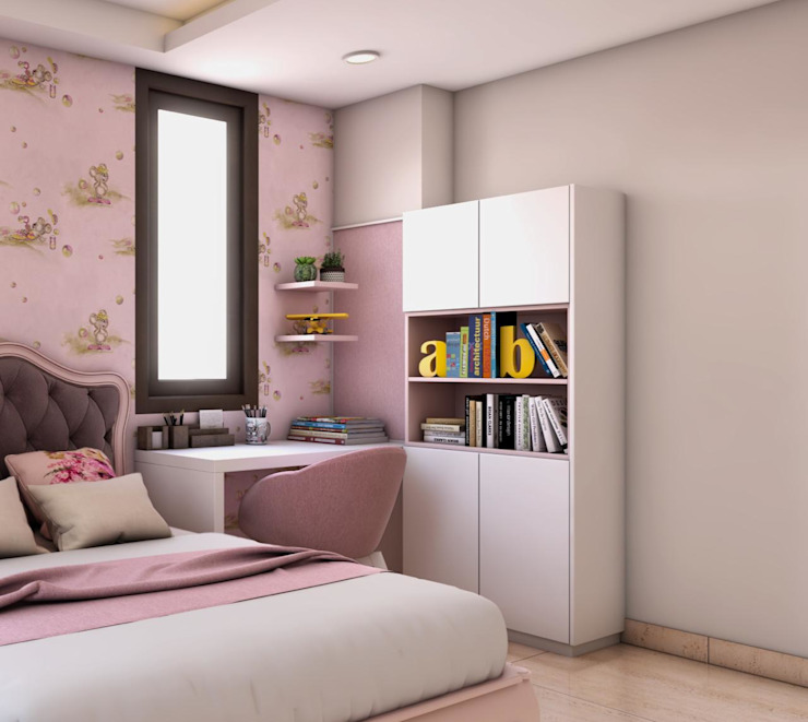 Daughter room Study and storage unit Lakkad Works Modern study/office