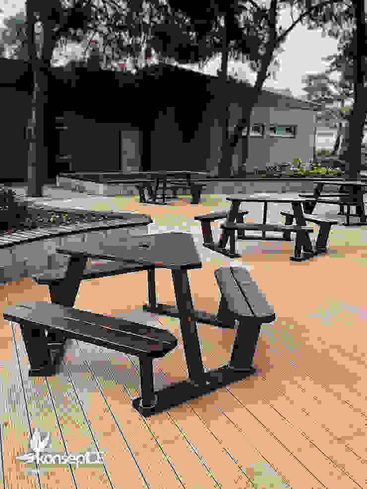 AKSA AKRİLİK KİMYA SANAYİ A.Ş & Ablok bahçesi Uygulama konseptDE Peyzaj Fidancılık Tic. Ltd. Şti. Modern Bahçe