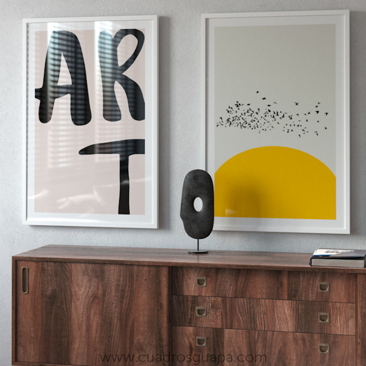 Cuadros Decorativos ArtworkOther artistic objects Paper Amber/Gold