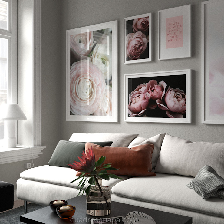 Cuadros Decorativos ArtworkPictures & paintings Paper Pink