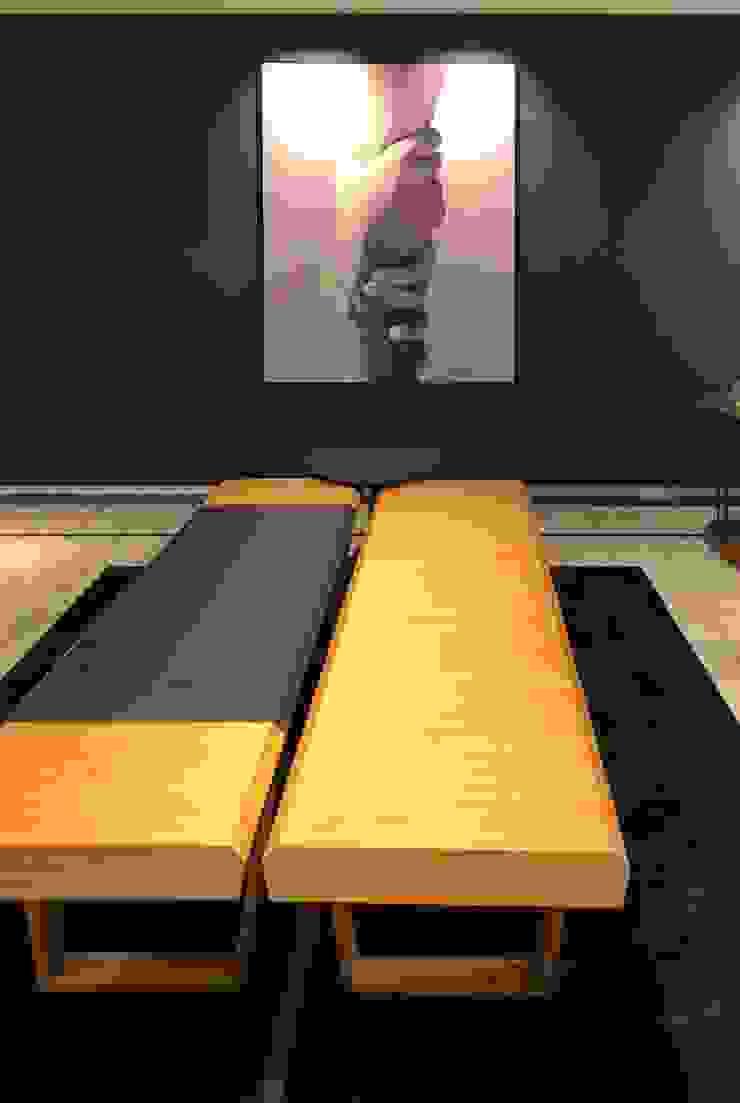 Arquitetura Sônia Beltrão & associados Living room Wood Blue