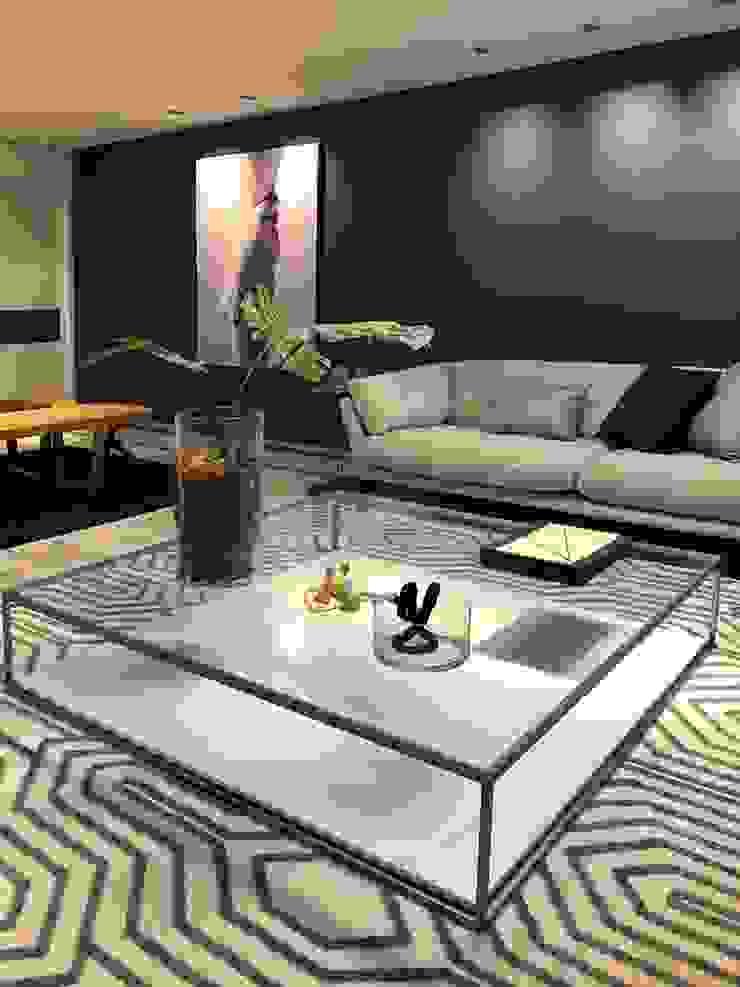 Estar Azul Salas de estar minimalistas por Arquitetura Sônia Beltrão & associados Minimalista Madeira Efeito de madeira