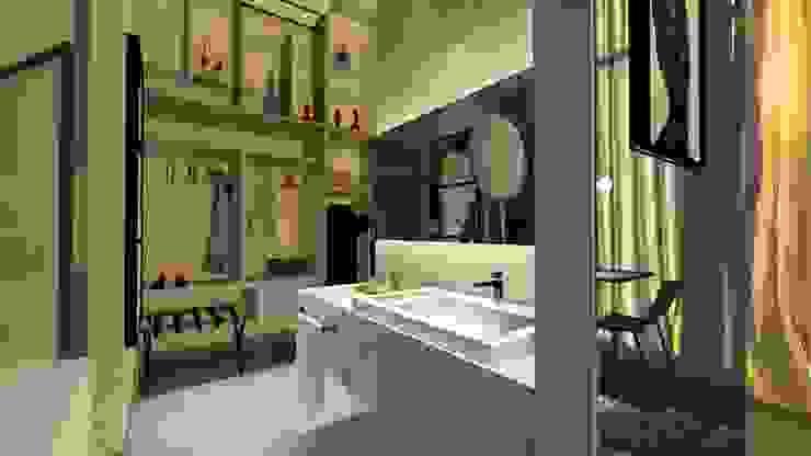 Cobertura | Loft | Lavabo Arquitetura Sônia Beltrão & associados Hotéis modernos Mármore Multi colorido