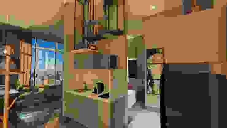 Gourmet | Lavabo Arquitetura Sônia Beltrão & associados Hotéis modernos Mármore Cinza