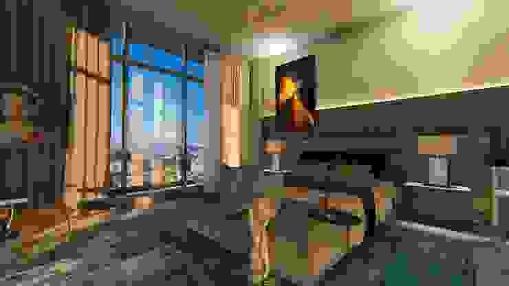 Cobertura | Loft 01 | Quarto Arquitetura Sônia Beltrão & associados Hotéis modernos Concreto Cinza
