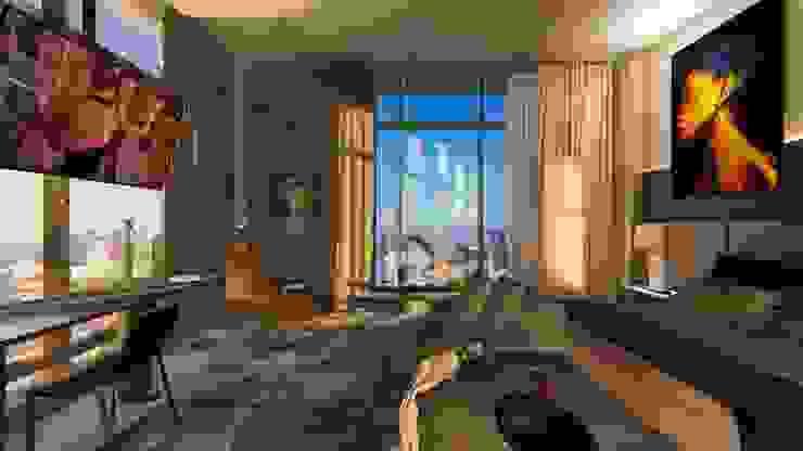 Cobertura | Loft 01 | Quarto Arquitetura Sônia Beltrão & associados Hotéis modernos Multi colorido