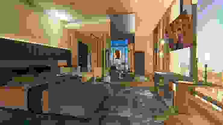 Cobertura | Loft 01 | Quarto Arquitetura Sônia Beltrão & associados Hotéis modernos Concreto Multi colorido