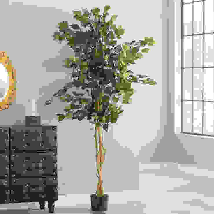 Real stem, artificial foliage Sunwing Industries Ltd Espaces commerciaux modernes Plastique Vert