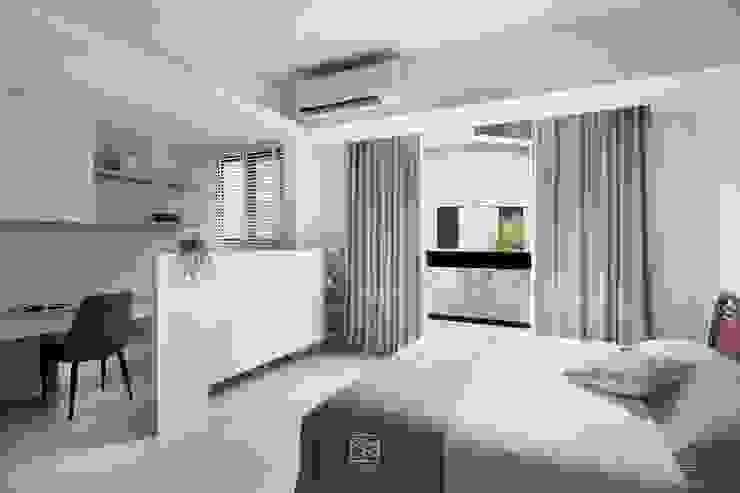 空間區分 禾廊室內設計 Modern style bedroom