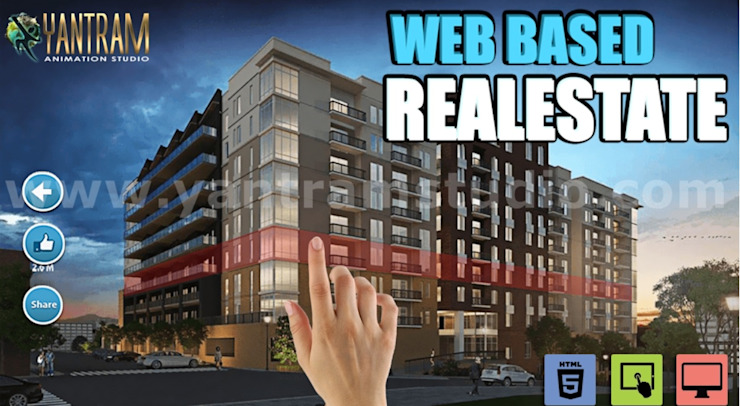 Interactive Web Based Real Estate virtual reality development companies by architectural animation services, London - Canada Yantram Architectural Design Studio Corporation Classic style houses