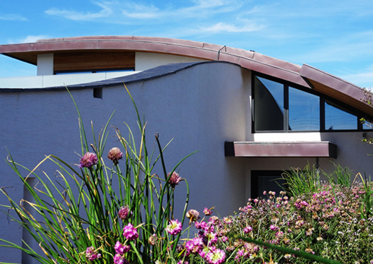 Curved Green Roof Arco2 Architecture Ltd Modern houses