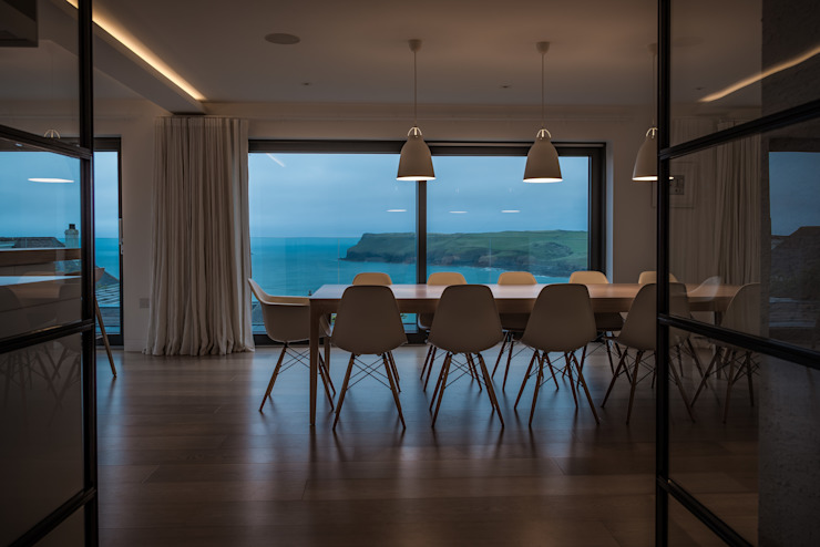 Polzeath property sea views Arco2 Architecture Ltd Modern dining room