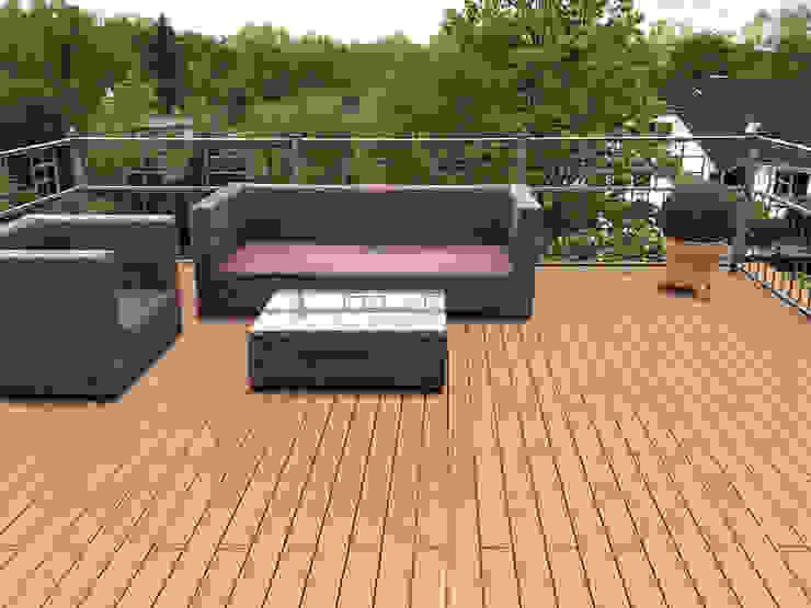 Eden B.V. Classic style balcony, porch & terrace Wood Wood effect