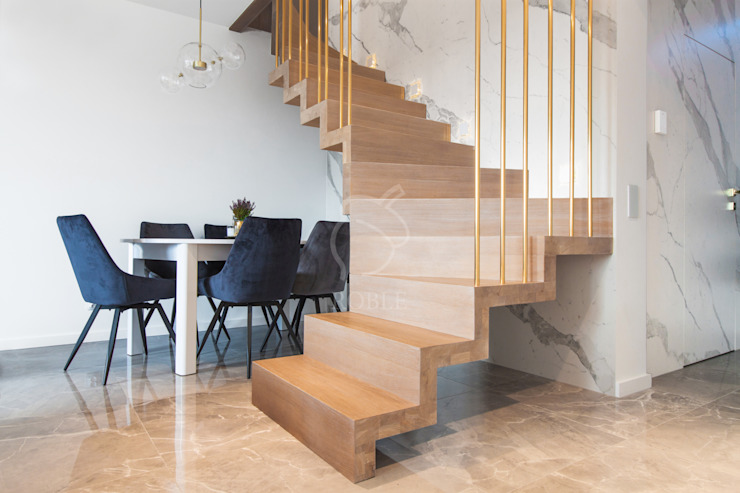 Roble Stairs Wood Beige