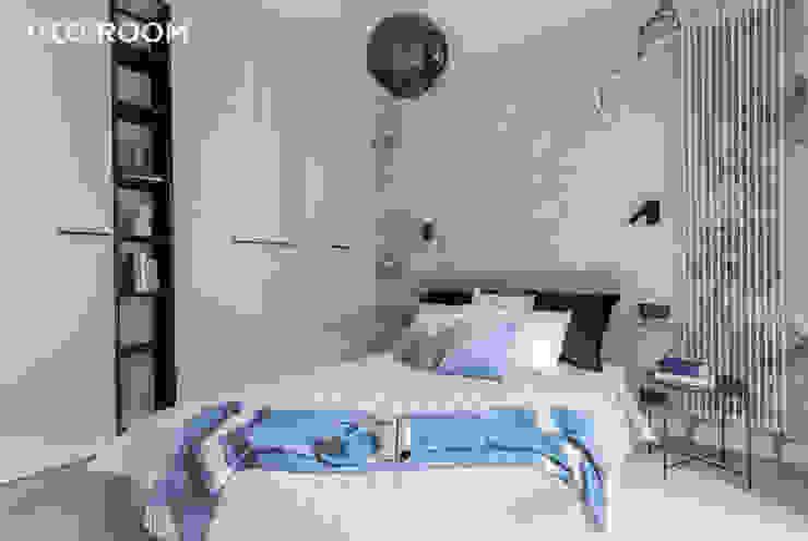 Pracownia Architektury Wnętrz Decoroom Kamar tidur kecil Grey