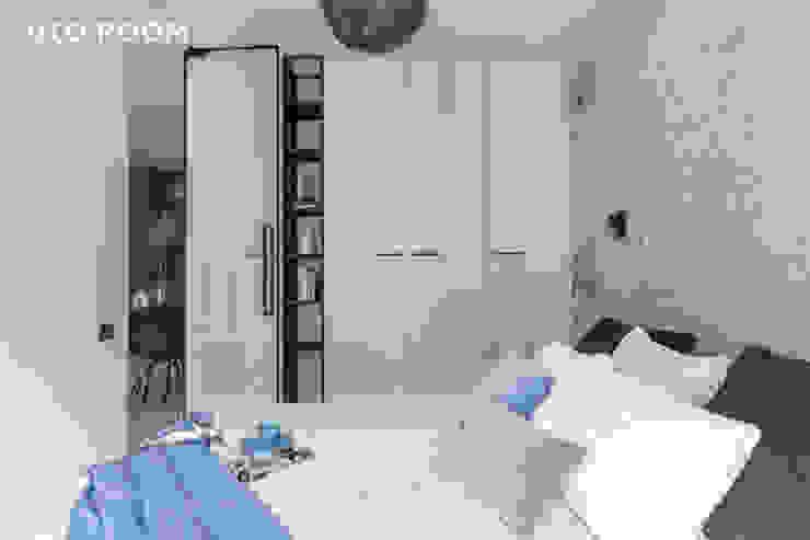 Pracownia Architektury Wnętrz Decoroom Kamar Tidur Modern Blue