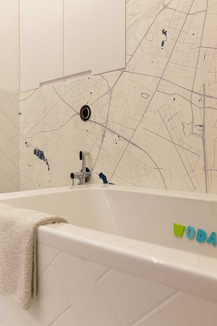 IDEALS . Marta Jaślan Interiors Phòng tắm phong cách hiện đại