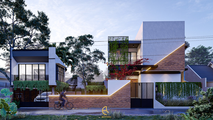 Rancang Reka Ruang Single family home Grey