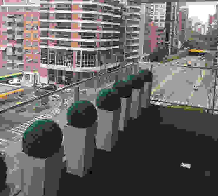 Office Building Corridor with Artificial Topiary Balls Sunwing Industries Ltd Khu Thương mại Nhựa Green