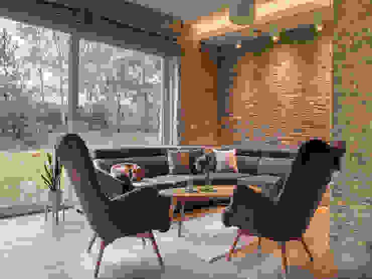 Studio4Design Modern living room Bricks Purple/Violet