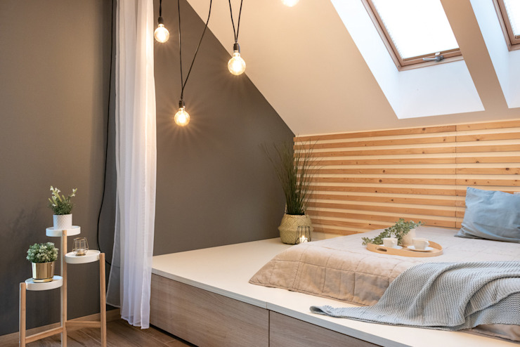 Studio4Design Modern style bedroom Wood White