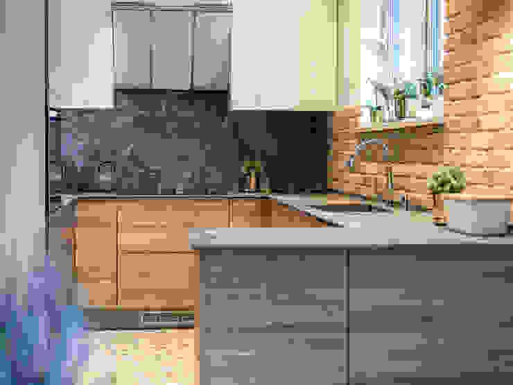 Studio4Design Modern kitchen Stone Grey