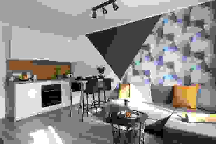 Studio4Design Cucina moderna Legno Blu