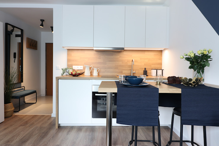 Studio4Design Cucina moderna Legno Bianco