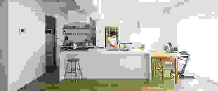 アイランドキッチン 北欧デザインの キッチン の ゼロリノベ 北欧