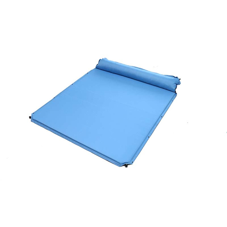 double size self inflating mat Zhejiang Hongfeng Outdoor Products Co., Ltd. SpaFurniture Tiles Blue