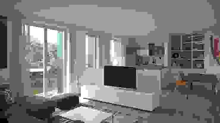 Legnocamuna Case 现代客厅設計點子、靈感 & 圖片