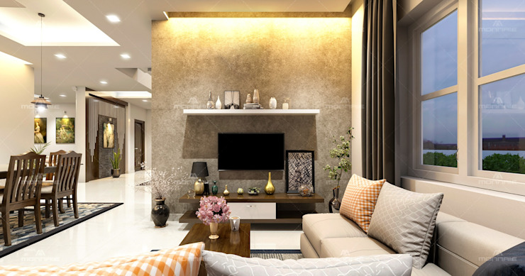 Special Living room designs Monnaie Interiors Pvt Ltd Living roomAccessories & decoration Wood Wood effect
