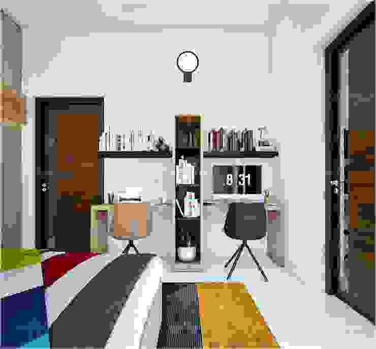 Study room design styles Monnaie Interiors Pvt Ltd BedroomAccessories & decoration Wood Wood effect