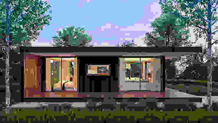 Visualisierung eines Konzeptes unhaus Rendering Solutions Minimalistische Häuser