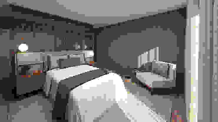 4Ponto7 DormitoriosCamas y cabeceras Madera Azul