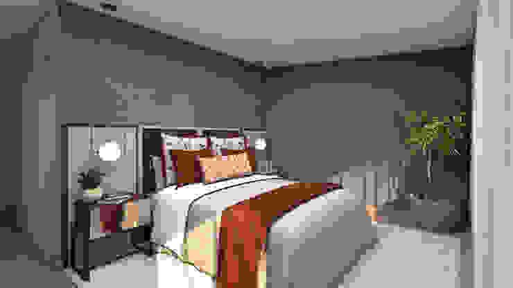 4Ponto7 DormitoriosCamas y cabeceras Textil Rojo