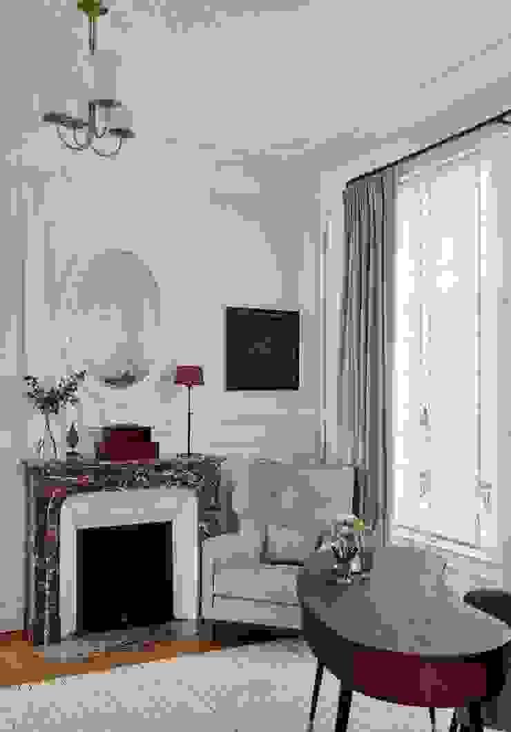 Lichelle Silvestry Interiors Ruang Studi/Kantor Klasik