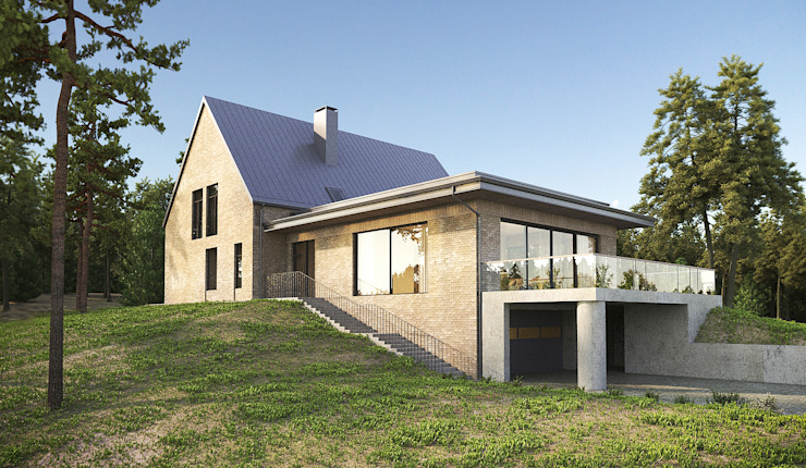 Дом на холме. Архитектурное бюро Киев Modern houses