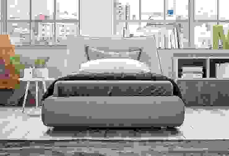 Letto singolo imbottito Tanno Arredamenti Camera da letto moderna