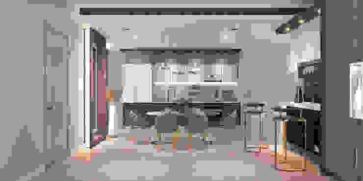 Magnolias Waterfront Residences Modernize Design + Turnkey ครัวบิลท์อิน Grey