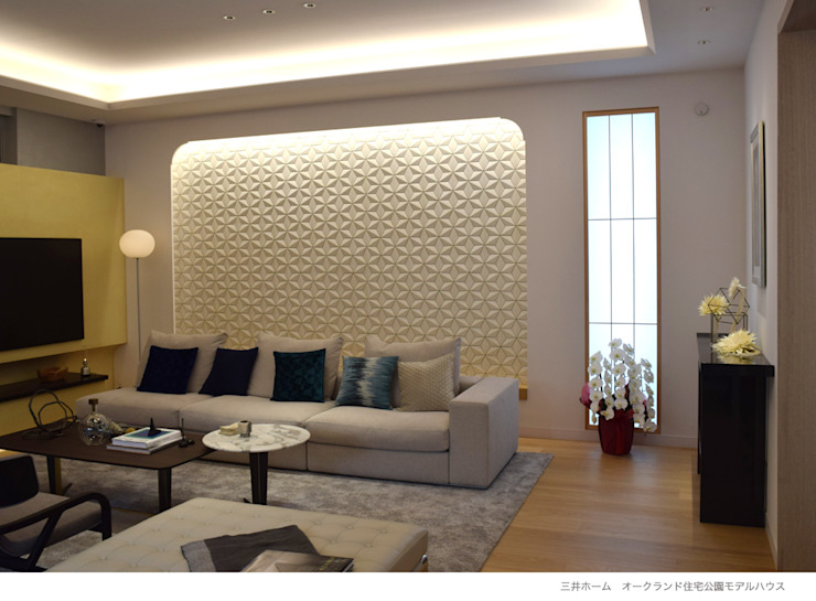 株式会社 虔山 Living roomSofas & armchairs Ubin White