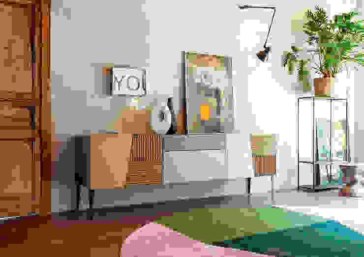 Il legno massello si trasforma in design Tanno Arredamenti Soggiorno moderno