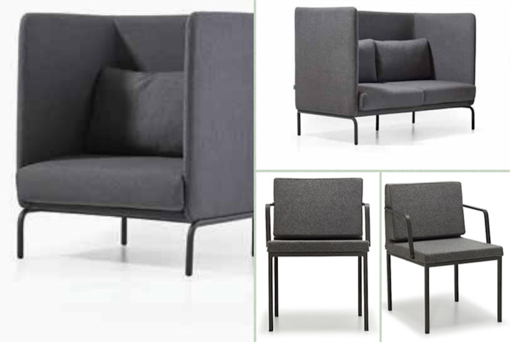 Sofa, armchair, and chairs with modesty panel SG International Trade Oficinas y tiendas