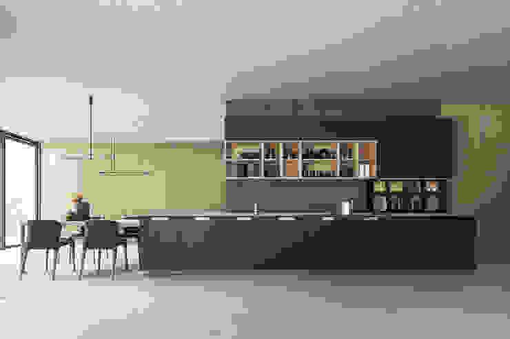 Cucina moderna grande open space con tavolo TopArredi Cucina attrezzata