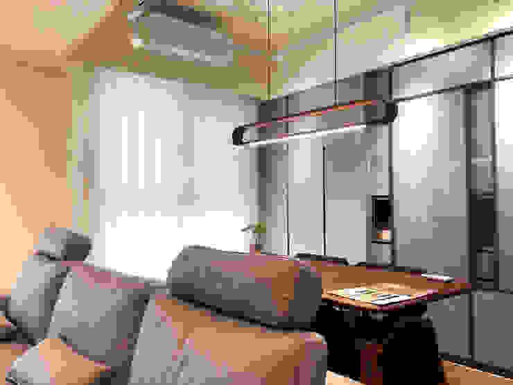 MSBT 幔室布緹 Oficinas de estilo moderno Madera Gris