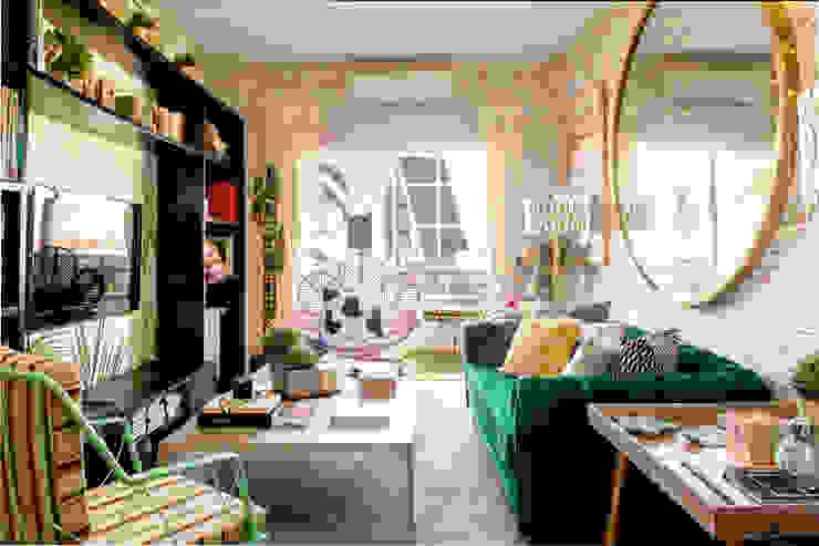 APARTAMENTO PSICODELICO SANTAYANA HOME Salones de estilo ecléctico Multicolor