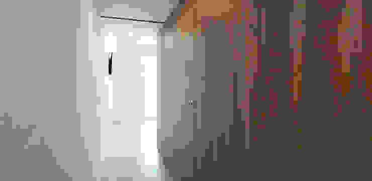 ARCHDESIGN LX Minimalist corridor, hallway & stairs Wood Wood effect
