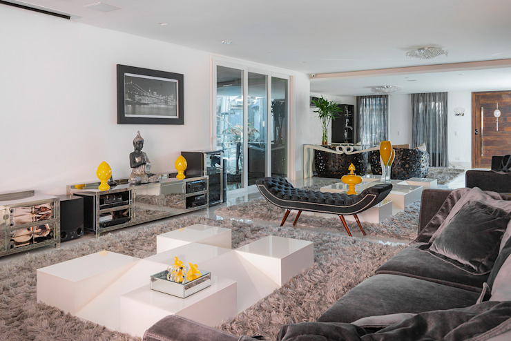 Spazhio Croce Interiores 客廳沙發與扶手椅 合成纖維 Black