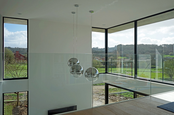 AD+ arquitectura Modern Living Room Glass White